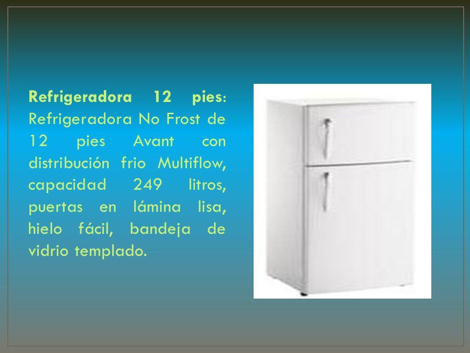 Refrigeradora 12 pies: Refrigeradora No Frost de 12 pies Avant con distribución frio Multiflow, capacidad 249 litros, puertas en lámina lisa, hielo fá