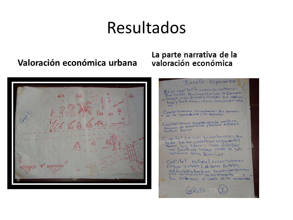 Valoración económica urbana La parte narrativa de la valoración económica