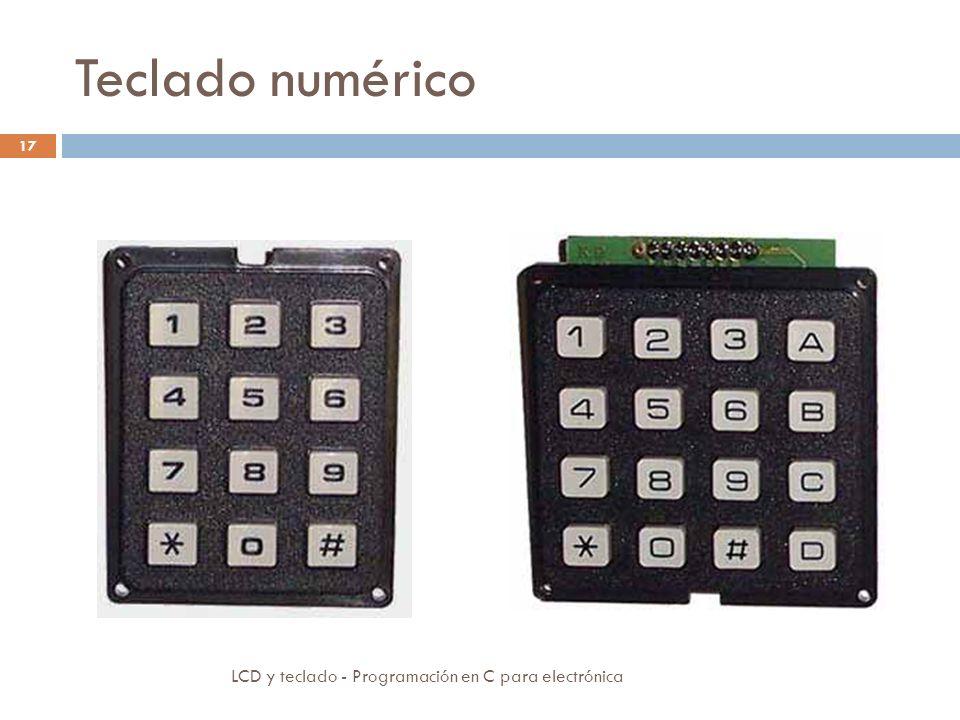 Teclado numérico LCD y teclado - Programación en C para electrónica 17