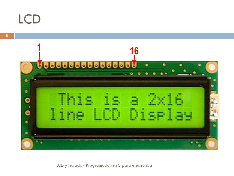 LCD LCD y teclado - Programación en C para electrónica 5