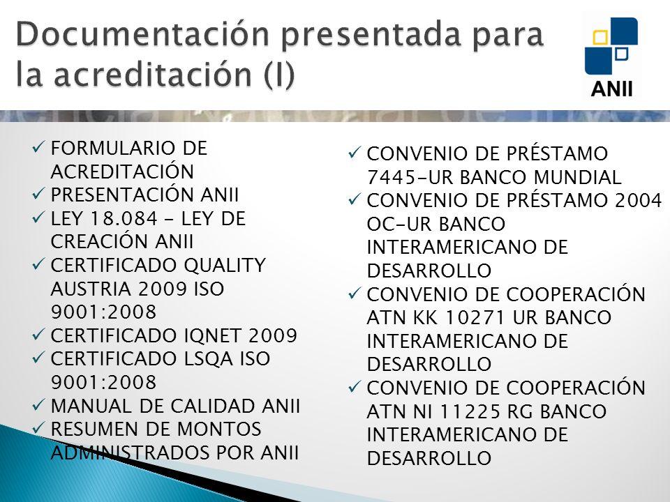 CONVENIO DE PRÉSTAMO 7445-UR BANCO MUNDIAL CONVENIO DE PRÉSTAMO 2004 OC-UR BANCO INTERAMERICANO DE DESARROLLO CONVENIO DE COOPERACIÓN ATN KK 10271 UR