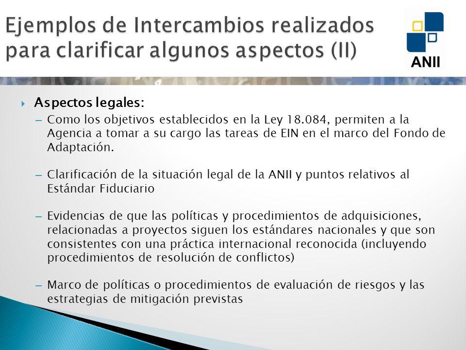 Aspectos legales: – Como los objetivos establecidos en la Ley 18.084, permiten a la Agencia a tomar a su cargo las tareas de EIN en el marco del Fondo