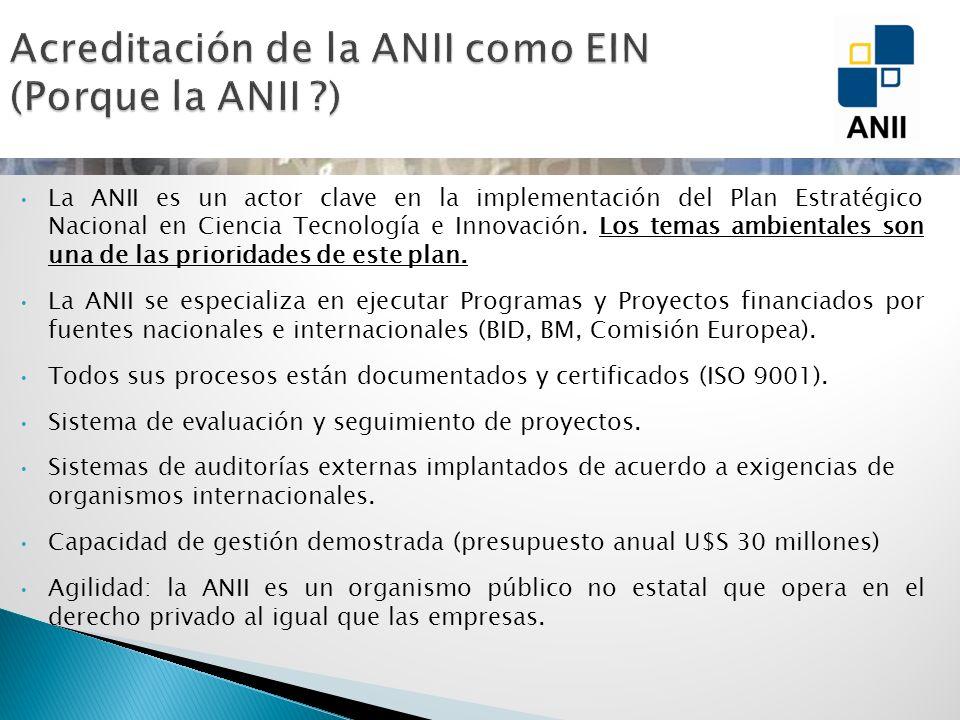 La ANII es un actor clave en la implementación del Plan Estratégico Nacional en Ciencia Tecnología e Innovación. Los temas ambientales son una de las