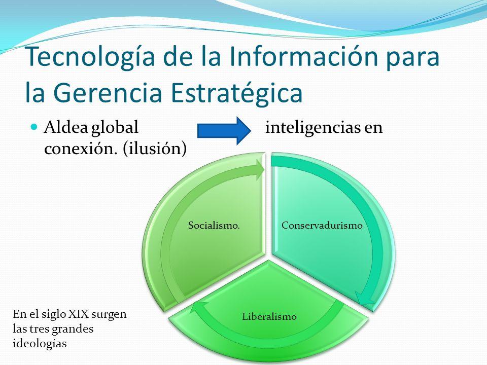 Tecnología de la Información para la Gerencia Estratégica Aldea global inteligencias en conexión.