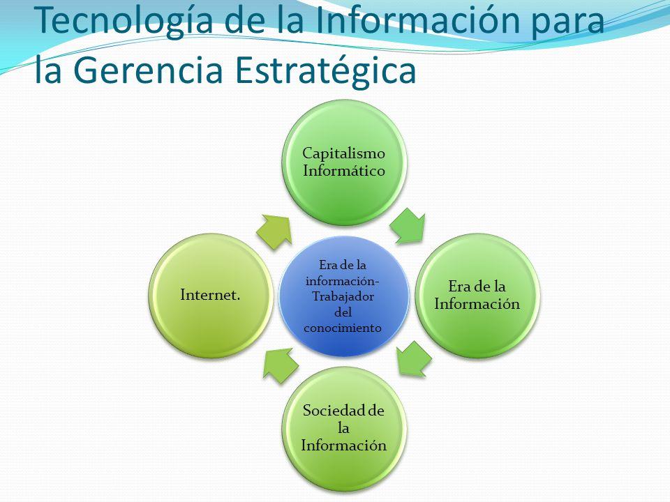 Capitalismo Informático Era de la Información Sociedad de la Información Internet.