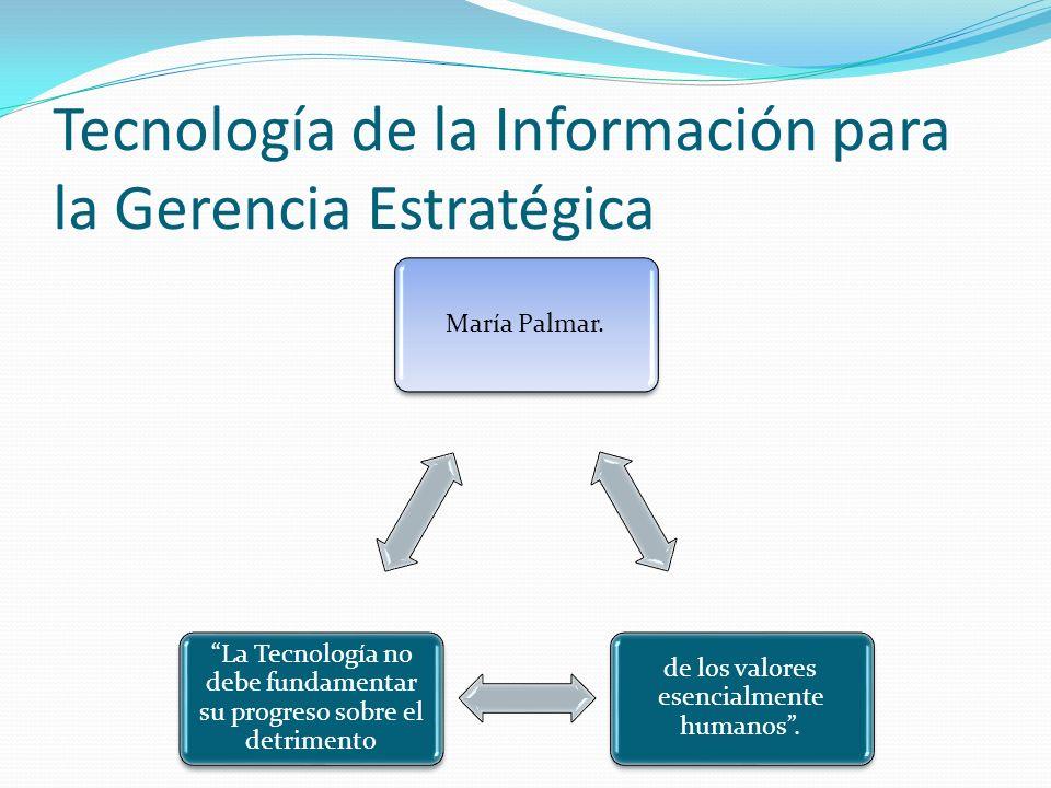 Tecnología de la Información para la Gerencia Estratégica María Palmar.