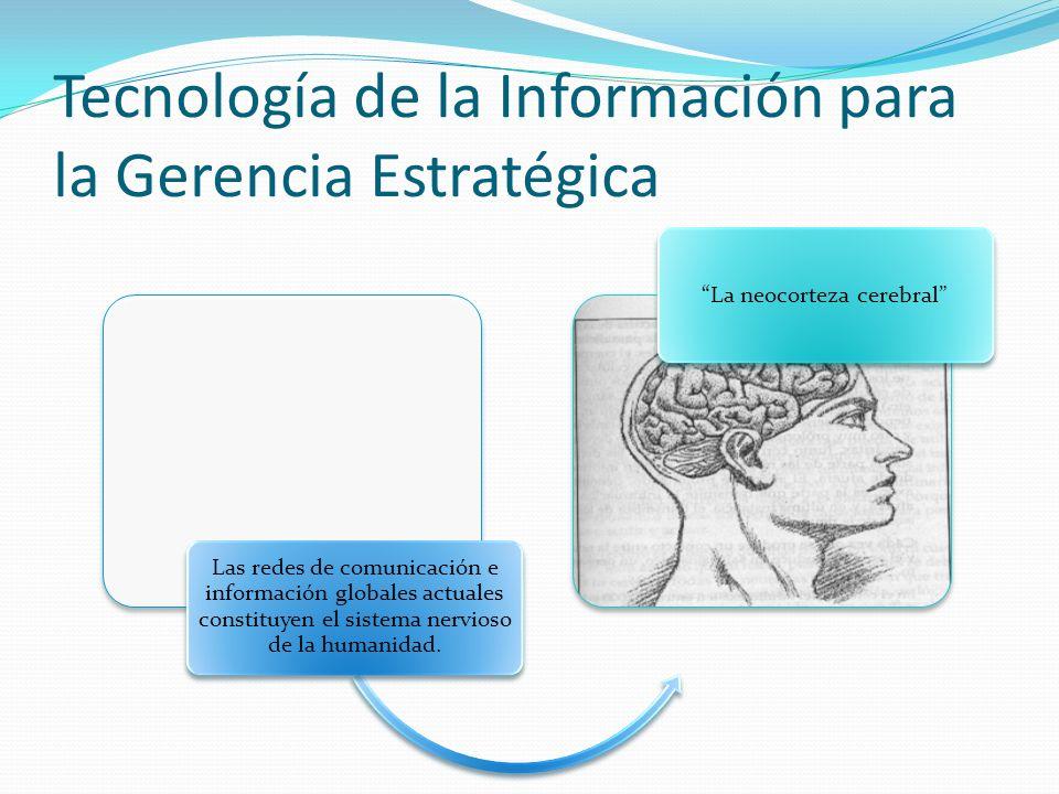 Tecnología de la Información para la Gerencia Estratégica Las redes de comunicación e información globales actuales constituyen el sistema nervioso de la humanidad.