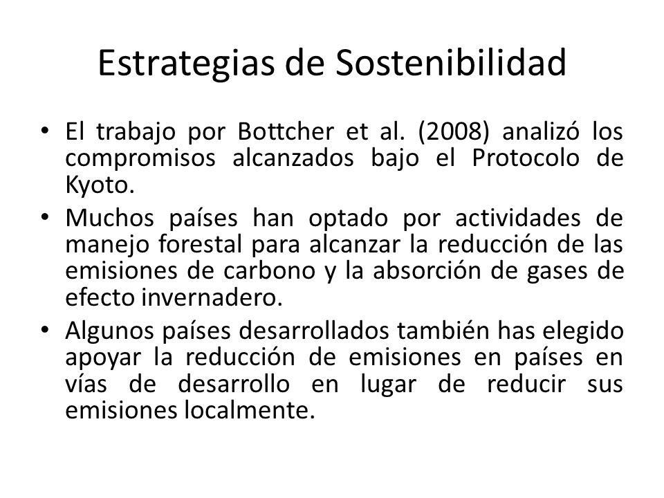 Estrategias de Sostenibilidad El trabajo por Bottcher et al.