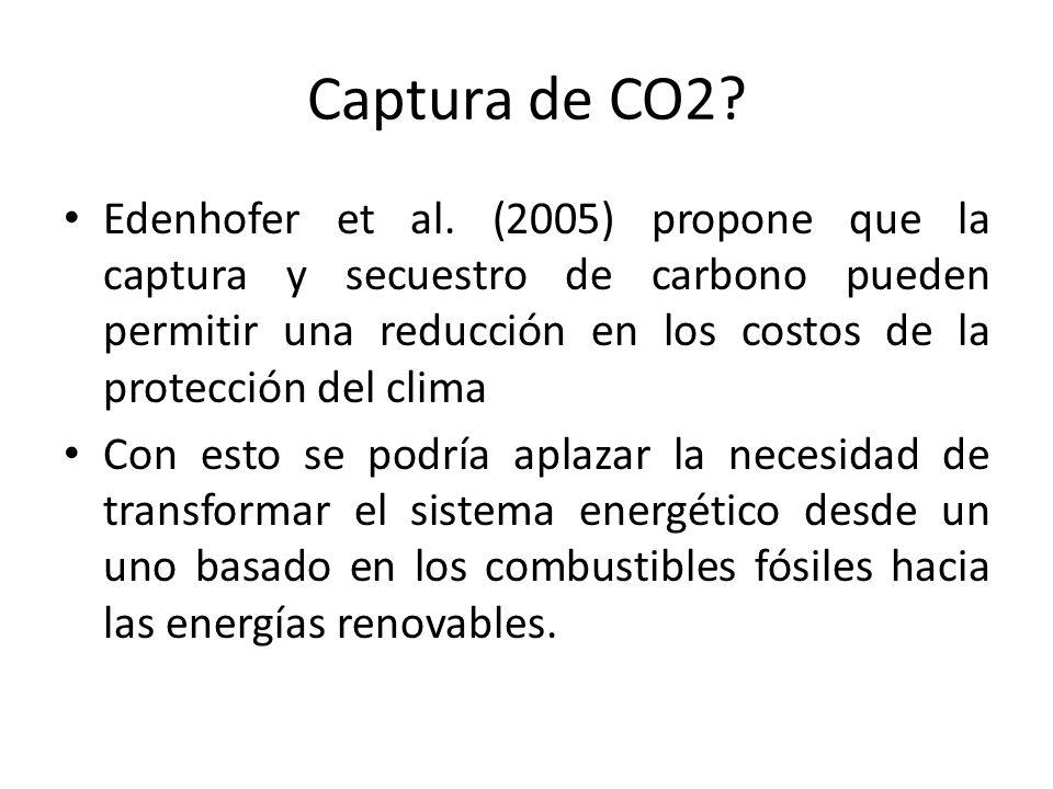 Captura de CO2.Edenhofer et al.