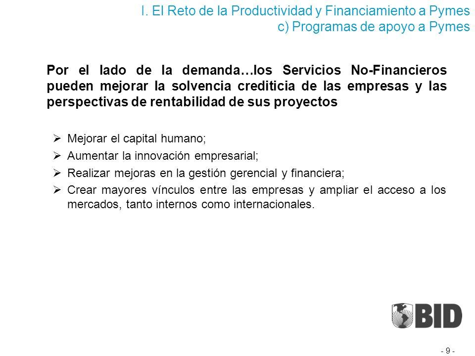 ¿Cómo lograr que las firmas que usan Servicios No- Financieros tengan un mayor y mejor acceso al crédito.