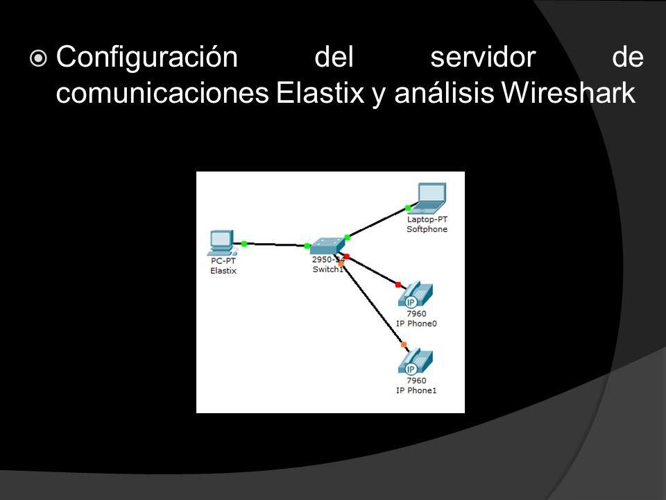 Configuración del servidor de comunicaciones Elastix y análisis Wireshark
