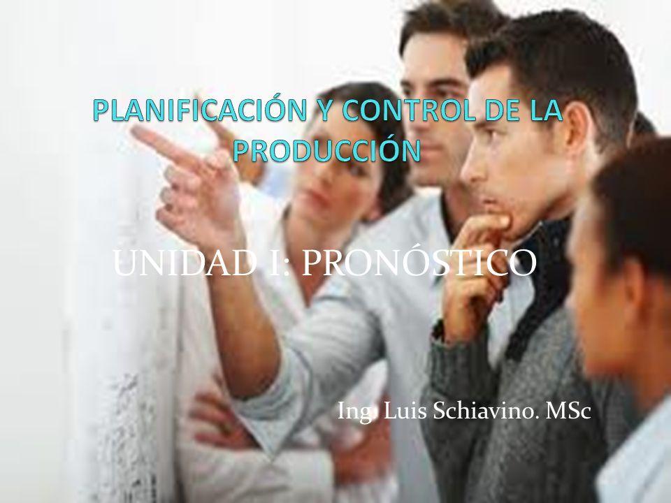 UNIDAD I: PRONÓSTICO Ing. Luis Schiavino. MSc