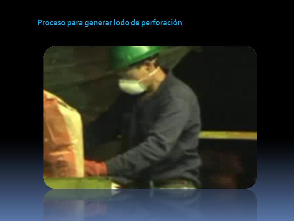 Proceso para generar lodo de perforación