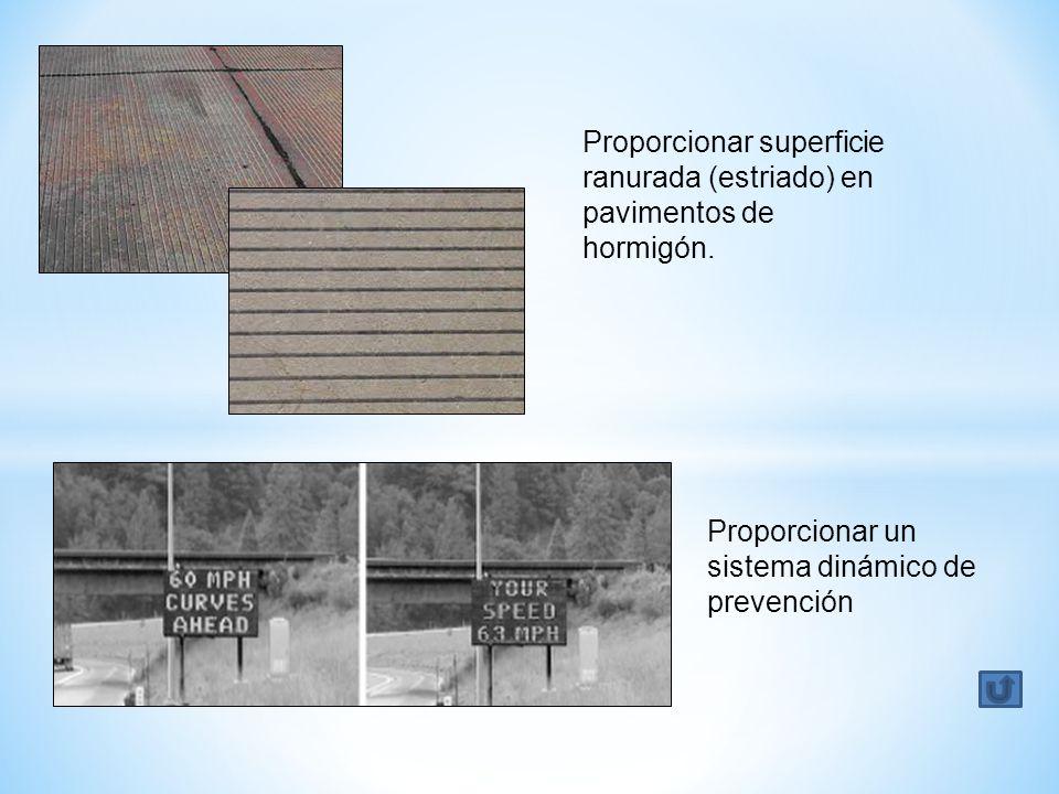 Proporcionar superficie ranurada (estriado) en pavimentos de hormigón. Proporcionar un sistema dinámico de prevención