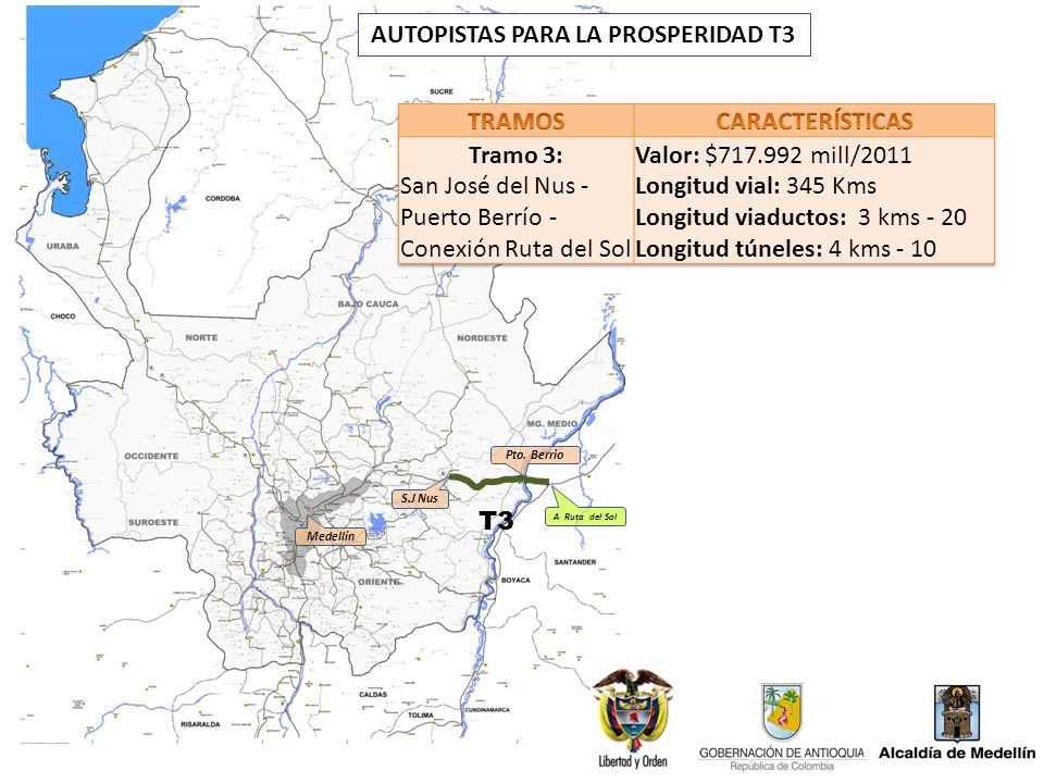 S.J Nus Pto. Berrio T3 AUTOPISTAS PARA LA PROSPERIDAD T3 Medellín A Ruta del Sol
