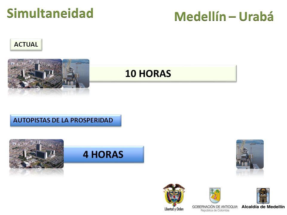 10 HORAS 4 HORAS ACTUAL AUTOPISTAS DE LA PROSPERIDAD