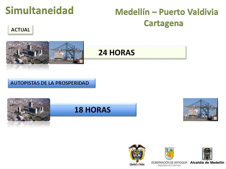 24 HORAS 18 HORAS ACTUAL AUTOPISTAS DE LA PROSPERIDAD