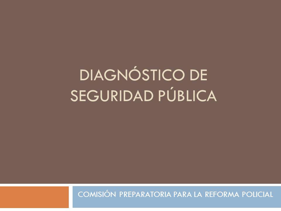 DIAGNÓSTICO DE SEGURIDAD PÚBLICA COMISIÓN PREPARATORIA PARA LA REFORMA POLICIAL
