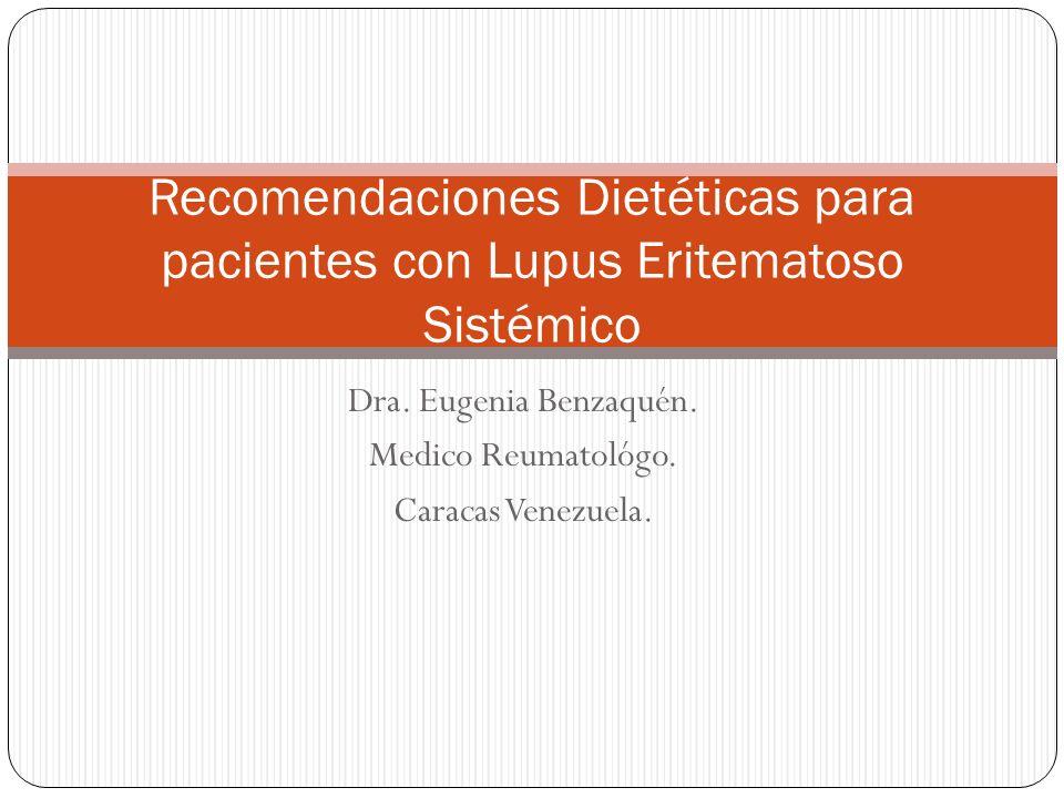 Dra.Eugenia Benzaquén. Medico Reumatológo. Caracas Venezuela.