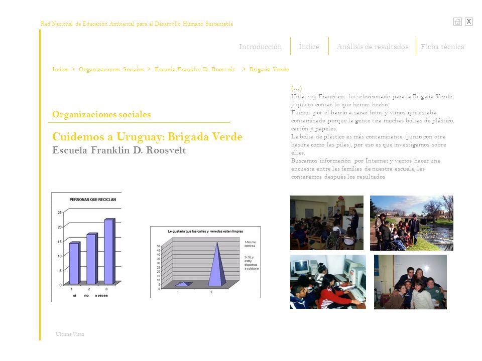 Red Nacional de Educación Ambiental para el Desarrollo Humano Sustentable X Ultima Vista Organizaciones sociales (…) Hola, soy Francisco, fui seleccio