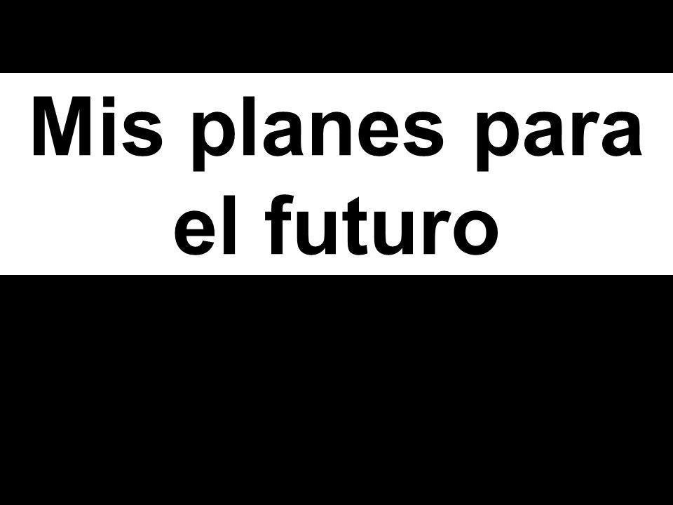 The Future Tense Dejaré de fumar. (I will stop smoking)