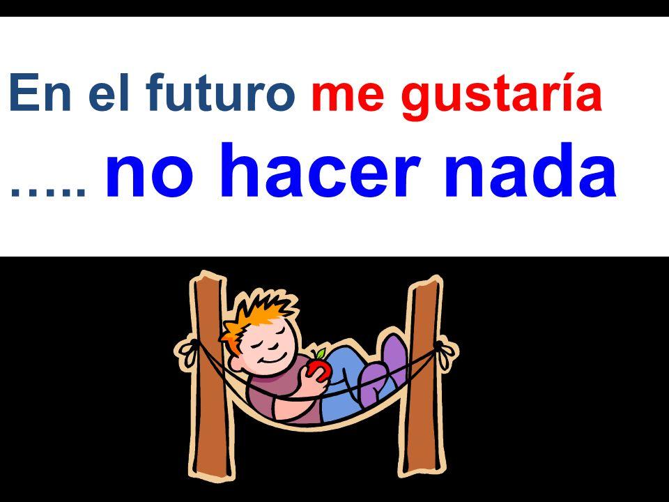 En el futuro voy a ….. tomar un año libre