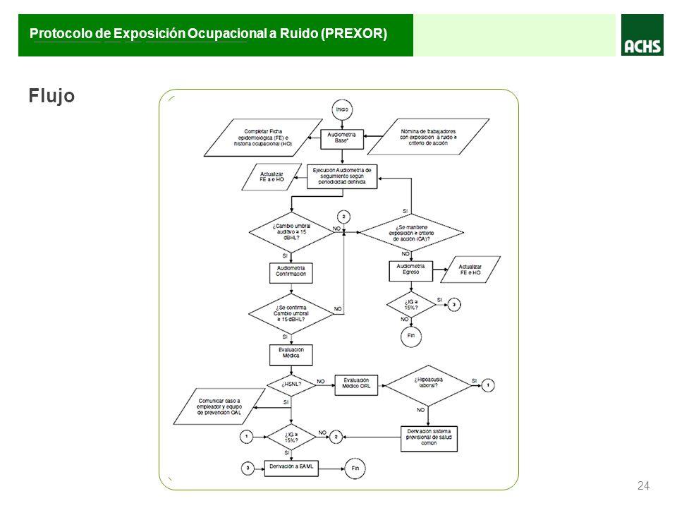________ __ __ ____________ Protocolo de Exposición Ocupacional a Ruido (PREXOR) 24 Flujo