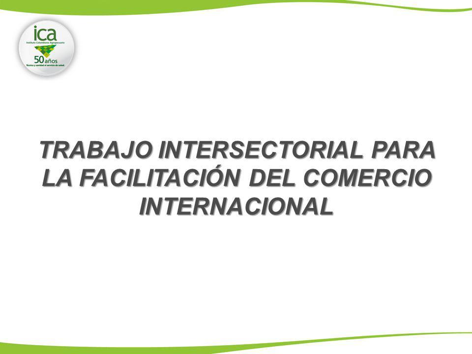 TRABAJO INTERSECTORIAL PARA LA FACILITACIÓN DEL COMERCIO INTERNACIONAL