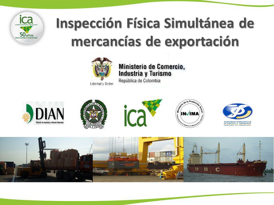 Inspección Física Simultánea de mercancías de exportación