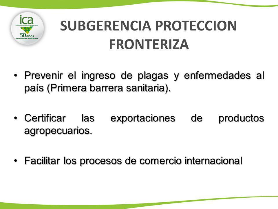 Prevenir el ingreso de plagas y enfermedades al país (Primera barrera sanitaria).Prevenir el ingreso de plagas y enfermedades al país (Primera barrera