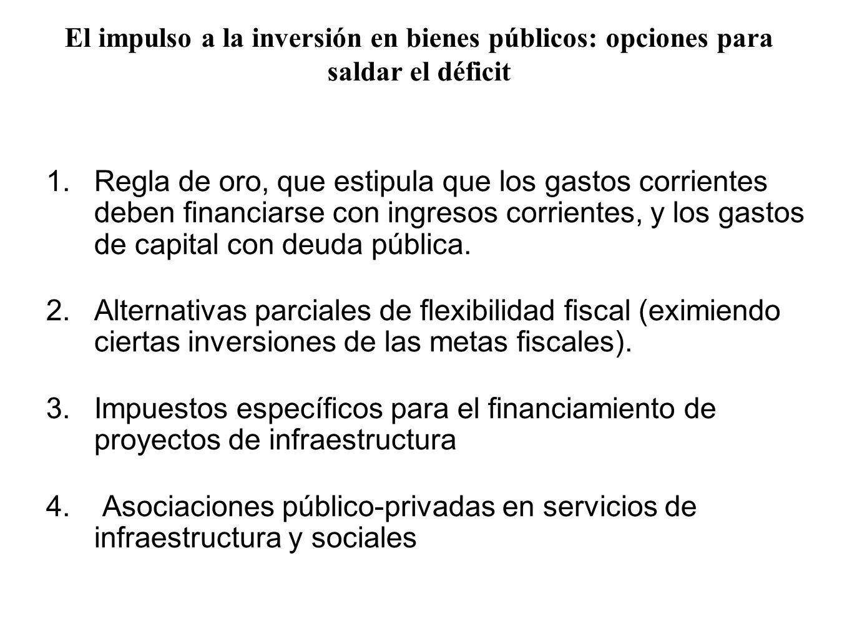 1.Regla de oro, que estipula que los gastos corrientes deben financiarse con ingresos corrientes, y los gastos de capital con deuda pública. 2.Alterna
