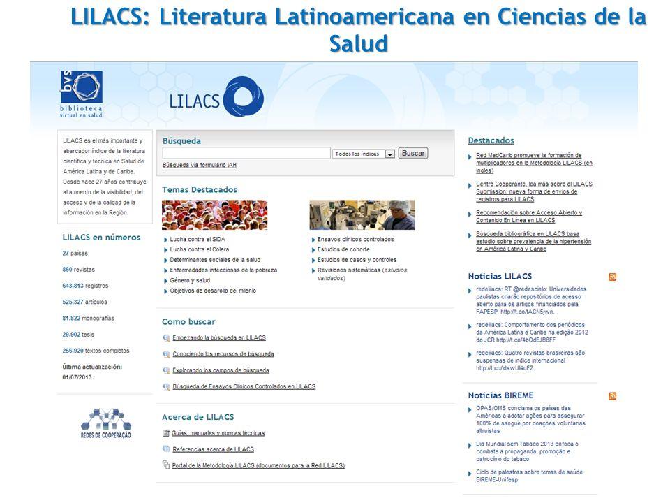 LILACS: Literatura Latinoamericana en Ciencias de la Salud