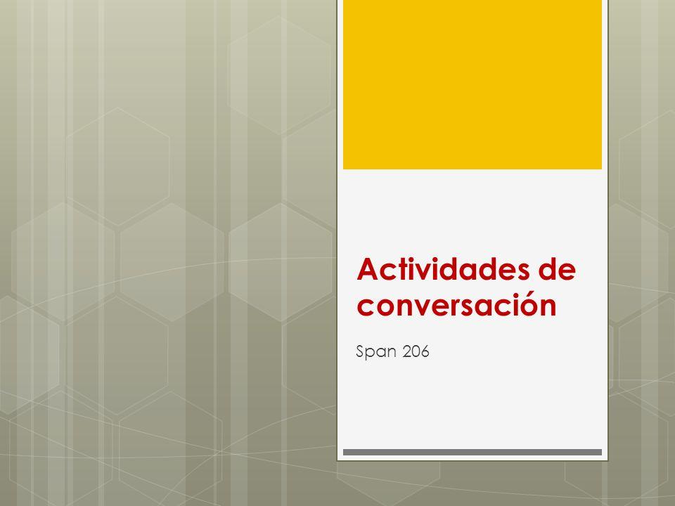 Actividades de conversación Span 206