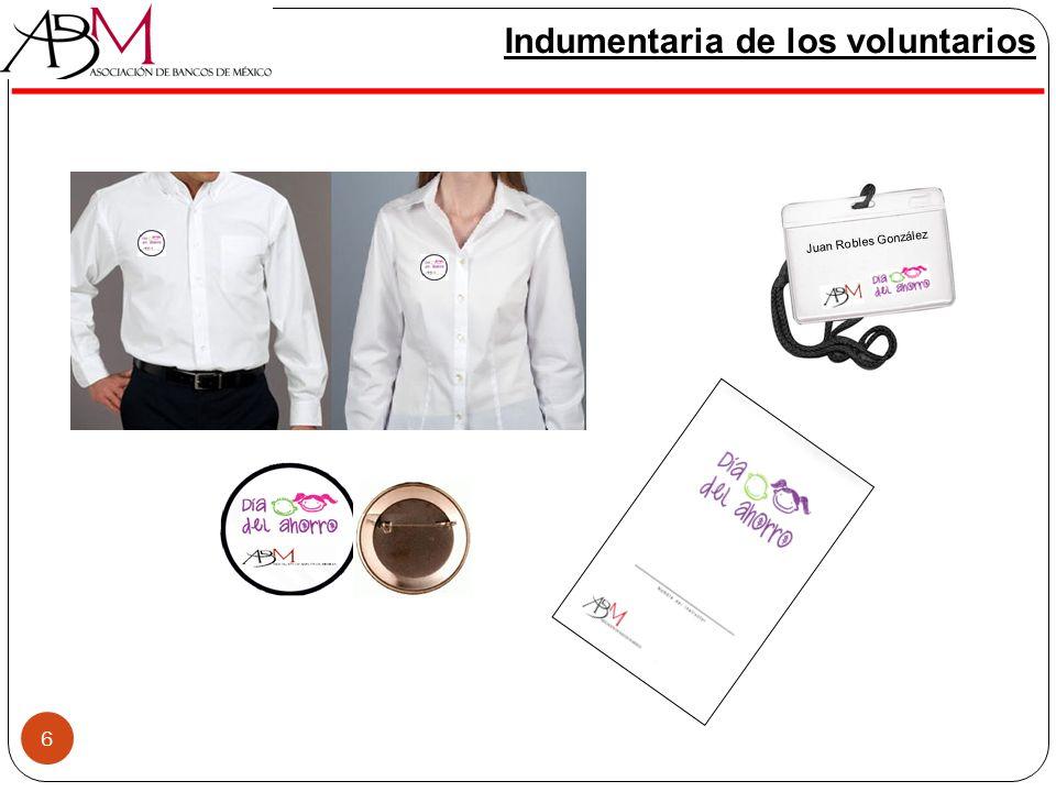 6 Indumentaria de los voluntarios 6 Juan Robles González