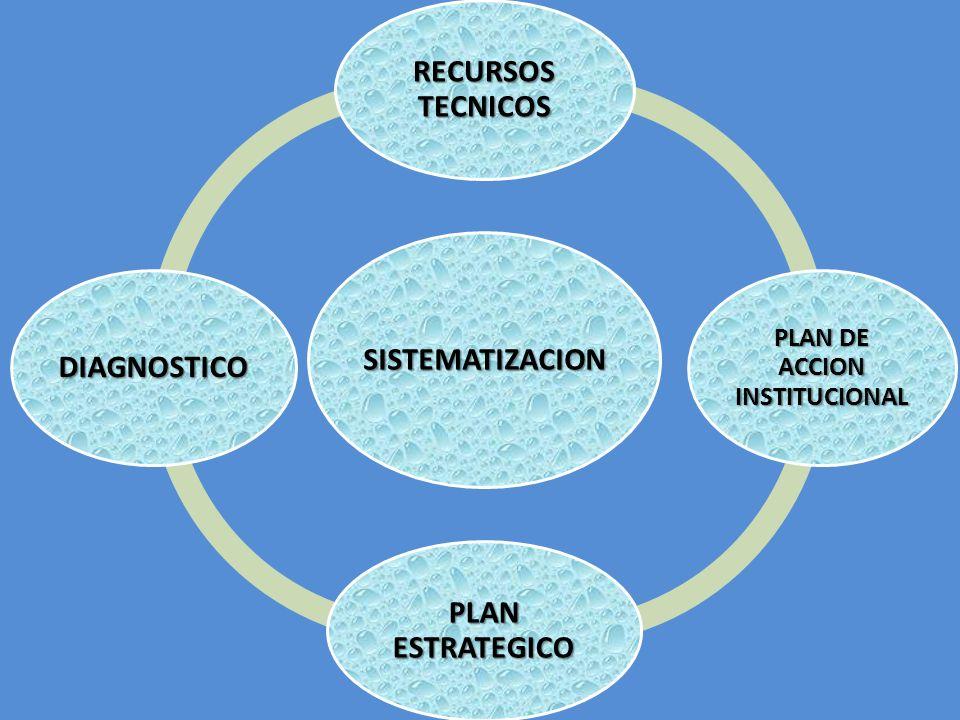 SISTEMATIZACION RECURSOS TECNICOS PLAN DE ACCION INSTITUCIONAL PLAN ESTRATEGICO DIAGNOSTICO