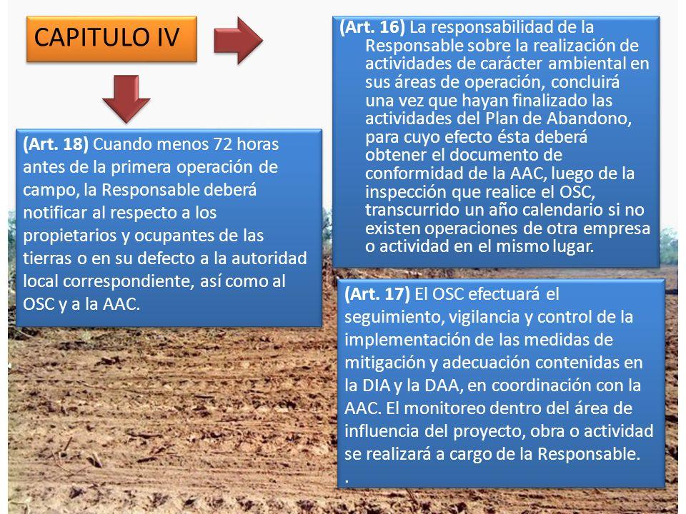 CAPITULO VIII DE LAS ACTIVIDADES DE APOYO (Art.