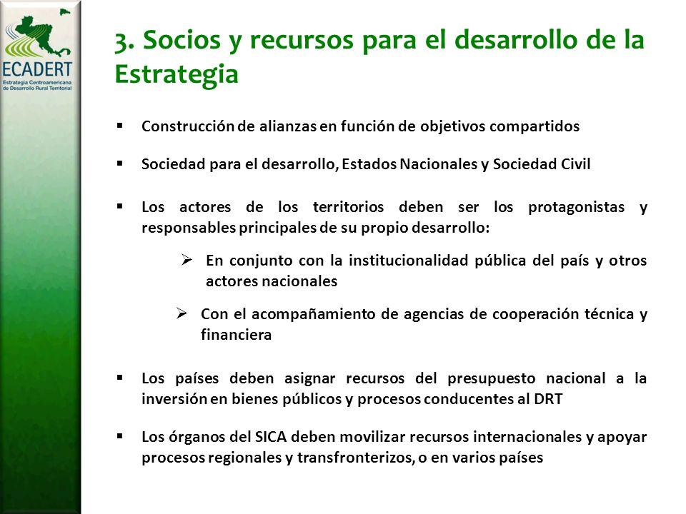 3. Socios y recursos para el desarrollo de la Estrategia Los actores de los territorios deben ser los protagonistas y responsables principales de su p