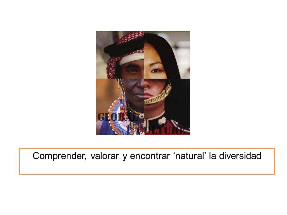 Comprender, valorar y encontrar natural la diversidad