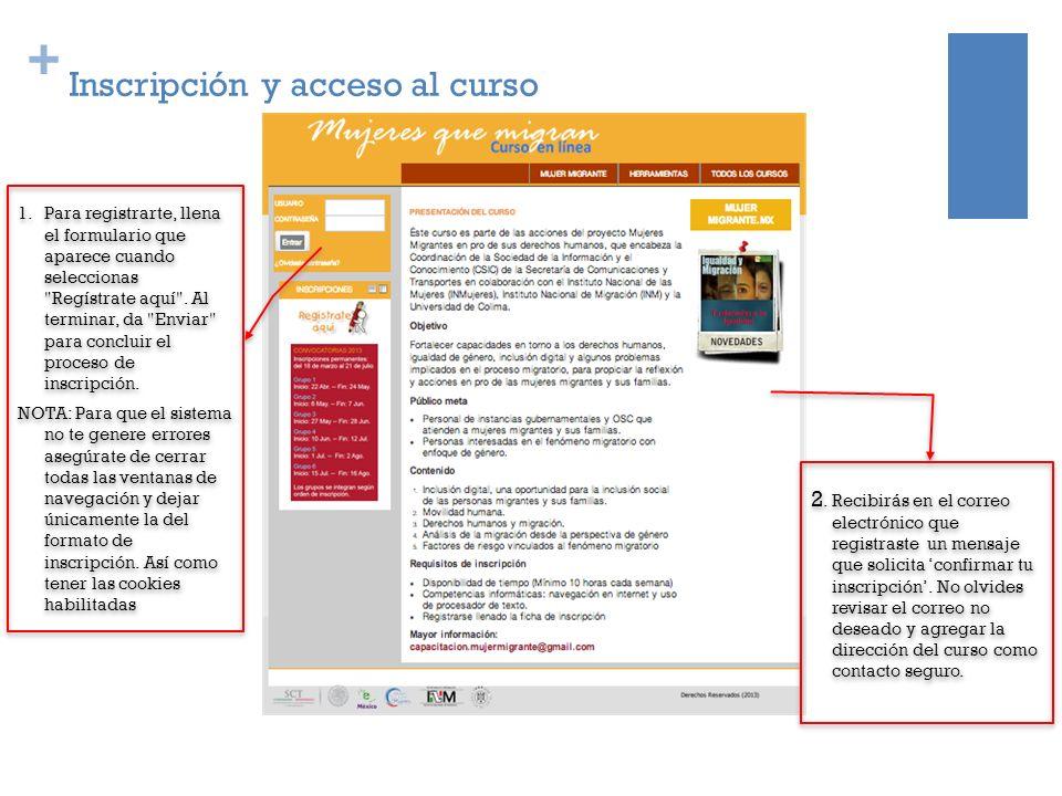 + Inscripción y acceso al curso 2.