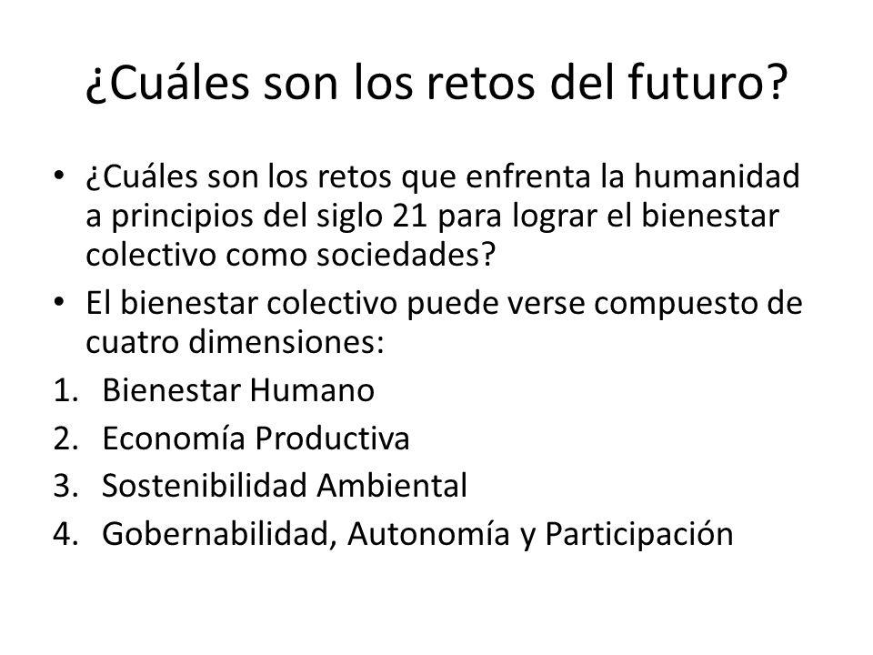 ¿Cuáles son los retos del futuro? ¿Cuáles son los retos que enfrenta la humanidad a principios del siglo 21 para lograr el bienestar colectivo como so