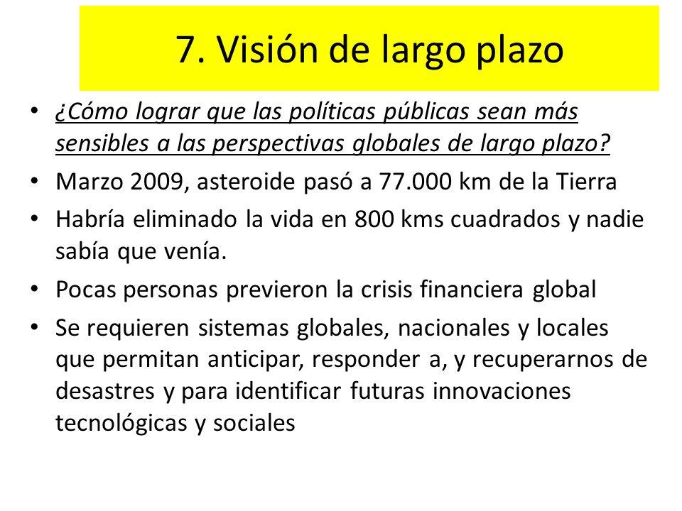 7. Visión de largo plazo ¿Cómo lograr que las políticas públicas sean más sensibles a las perspectivas globales de largo plazo? Marzo 2009, asteroide