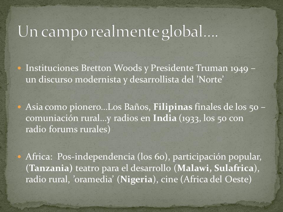 Instituciones Bretton Woods y Presidente Truman 1949 – un discurso modernista y desarrollista del Norte Asia como pionero…Los Baños, Filipinas finales