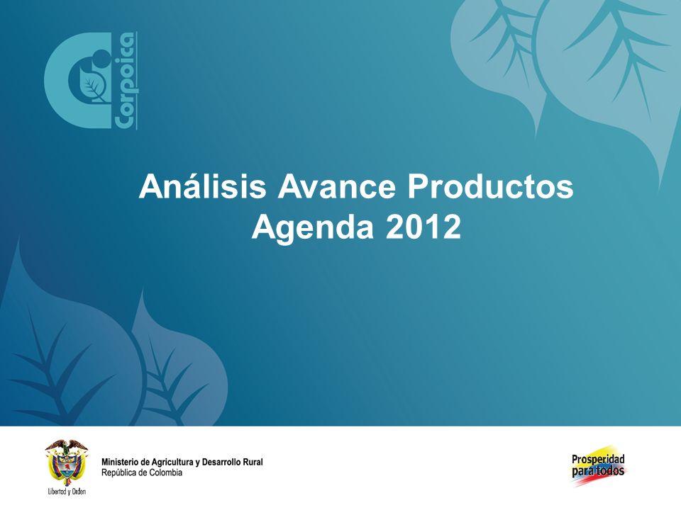 Análisis Avance Productos Agenda 2012