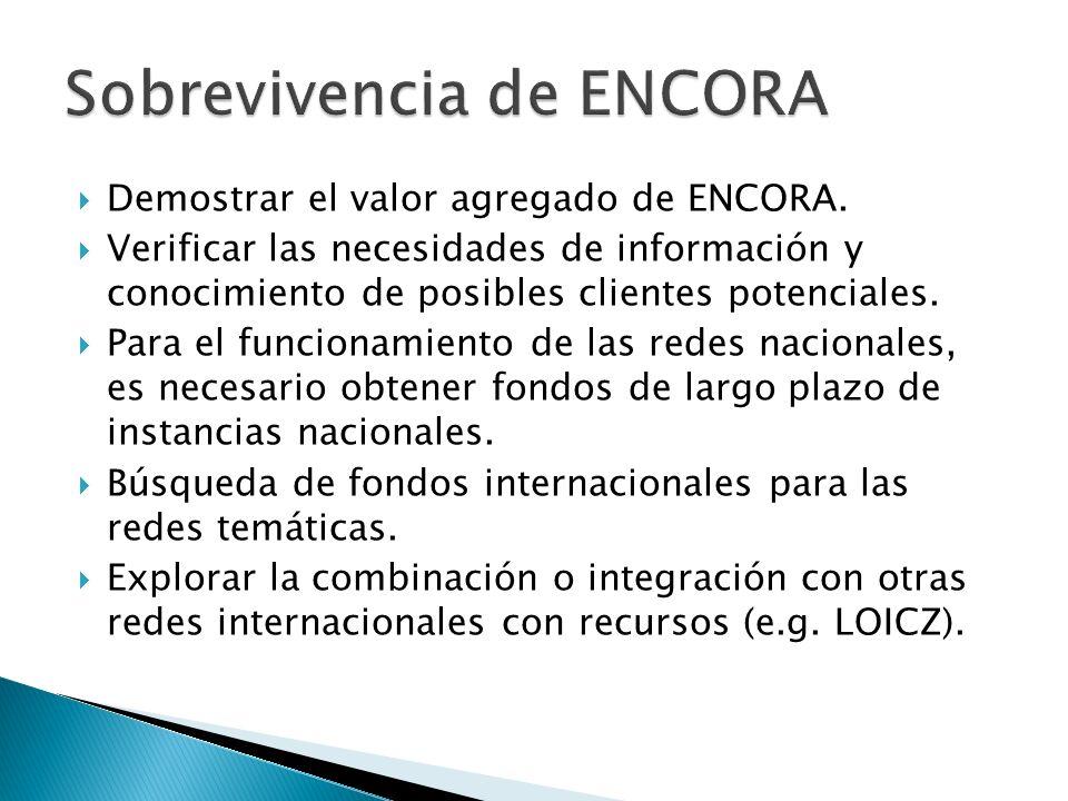 Demostrar el valor agregado de ENCORA.