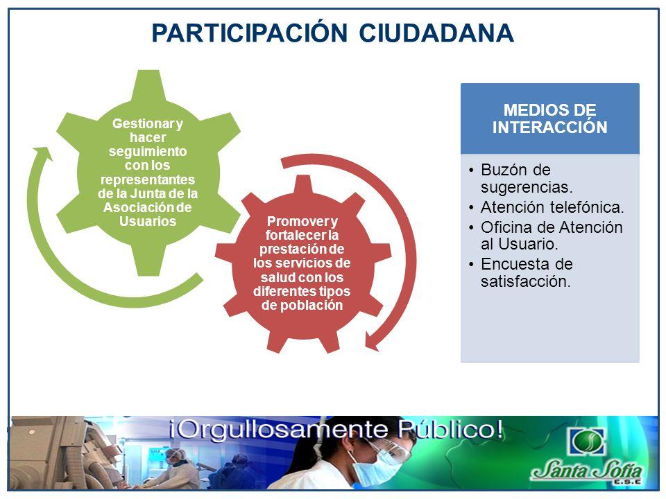 Promover y fortalecer la prestación de los servicios de salud con los diferentes tipos de población Gestionar y hacer seguimiento con los representant