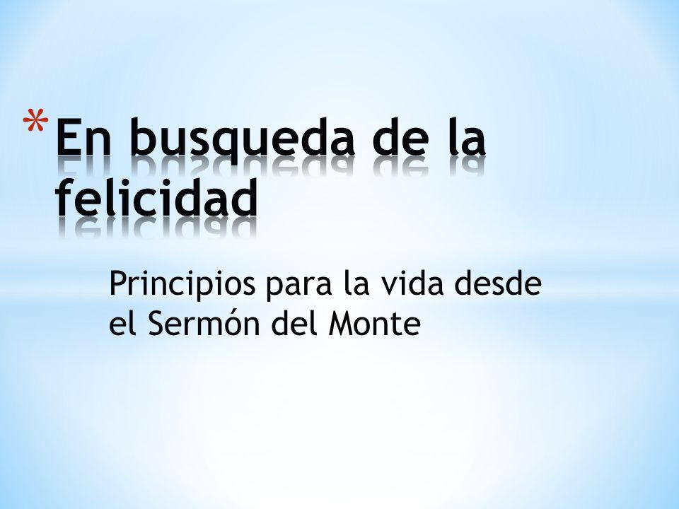 Principios para la vida desde el Sermón del Monte