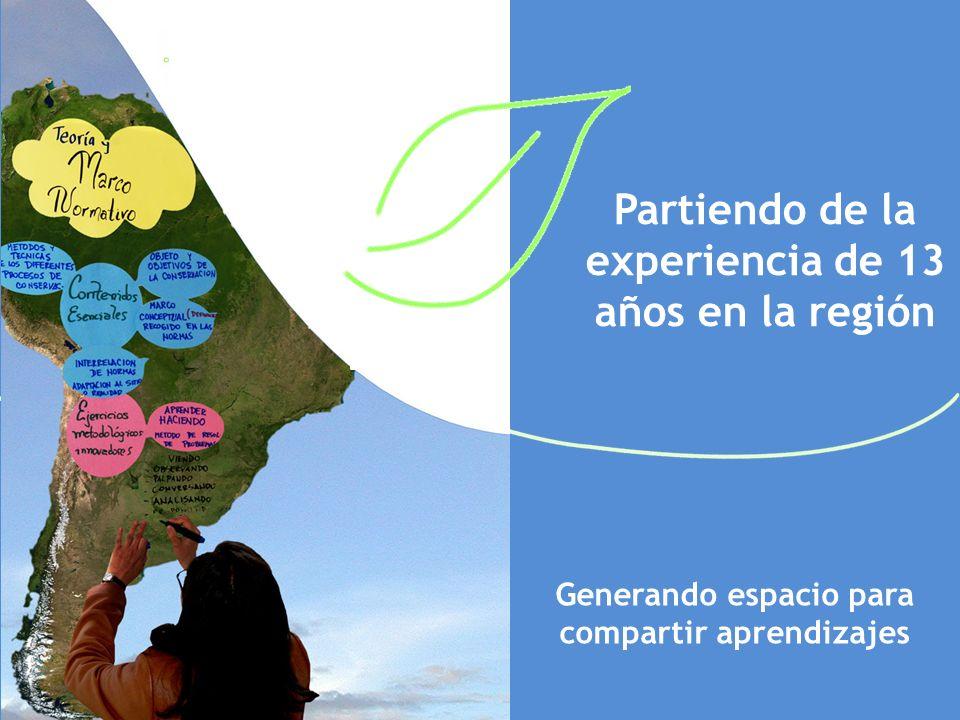 Partiendo de la experiencia de 13 años en la región Generando espacio para compartir aprendizajes