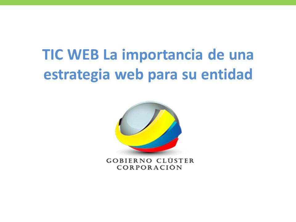 TIC WEB La importancia de una estrategia web para su entidad