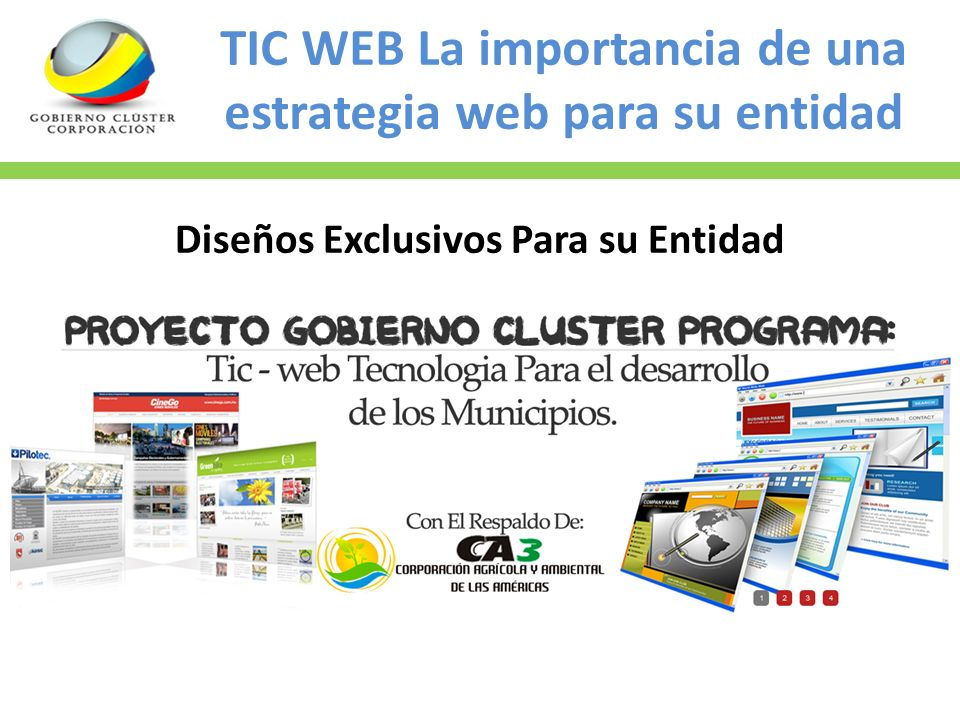 TIC WEB La importancia de una estrategia web para su entidad Diseños Exclusivos Para su Entidad
