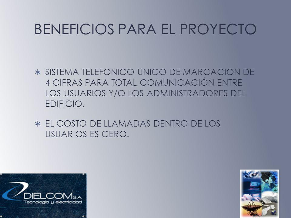 BENEFICIOS PARA EL PROYECTO SISTEMA TELEFONICO UNICO DE MARCACION DE 4 CIFRAS PARA TOTAL COMUNICACIÓN ENTRE LOS USUARIOS Y/O LOS ADMINISTRADORES DEL E